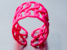 Infinity - Square and wide version in Pink Strong & Flexible Polished