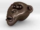Monkey Head in Polished Bronze Steel