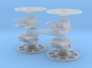 Brake Wheel with Sprue - Set of 4 in Frosted Ultra Detail