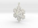 Snowflake Pendant  in White Strong & Flexible