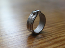 WOOD & NAIL Ring in Stainless Steel