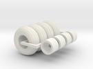 1/64 12.5L-15 Implement Tires And Wheels X 4 in White Strong & Flexible