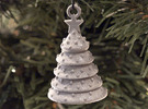 Aluminum Christmas Tree Ornament With Moving Parts in Polished Metallic Plastic