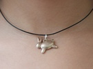 Bunny Pendant in Stainless Steel