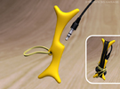 Earphones Cable Winder in Yellow Strong & Flexible Polished