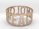 Peaceandlove 65 Bracelet in 14k Rose Gold Plated