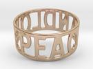 Peaceandlove 75 Bracelet in 14k Rose Gold Plated