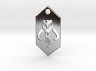 Mandalorian Pendant Keychain (Star Wars) in Polished Silver