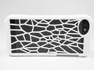 Vornoi Apple iphone 5 / 5S Case Organic Cellular D in White Strong & Flexible