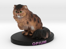Custom Cat Figurine - Opium in Full Color Sandstone