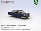 Mercedes-Benz 190 (N 1:160) in Frosted Ultra Detail