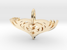 Mom Pendant Heart in 14K Gold