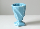 Ruba Rombic Shot Glass in Gloss Blue Porcelain