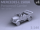 Mercedes L 1500 A - PERSONNEL CARRIER - (4 pack) in Frosted Ultra Detail