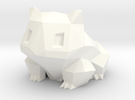 Bulbasaur Planter in White Strong & Flexible Polished
