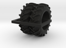 1/64 20.8-38 Rice and Cane tires - 1 pair in Black Strong & Flexible