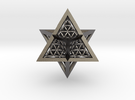 Super Star Tetrahedron (SST) in Polished Nickel Steel