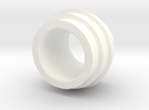 Side Booster ring in White Strong & Flexible Polished