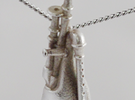 Schaeferpfeife pendant in Polished Silver