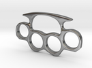 Brass Knuckles Miniature in Polished Silver