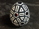 Mosaic Egg #16 in Full Color Sandstone