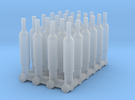 1:48 24 Wine Bottles in Frosted Ultra Detail