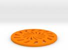 Coaster-3 in Orange Strong & Flexible Polished