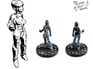 Alexandra Pryce, 28mm Miniature in White Strong & Flexible