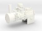 Boiler Henschel steam tram 1:45 in White Strong & Flexible Polished