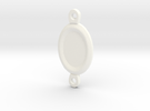 Margaery Necklace little circles in White Strong & Flexible Polished