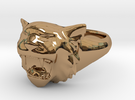 Awesome Tiger Ring Size12 in Polished Brass