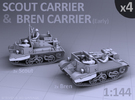 Scout and Bren Carrier  (4 pack) in Frosted Ultra Detail