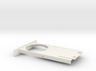Cupholder Tray V5 in White Strong & Flexible