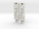 28mm - Ammo Boxes in White Strong & Flexible