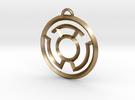 Yellow Lantern Keychain in Polished Gold Steel