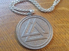 Valknut pendant in Stainless Steel
