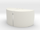Clamshell Bucket Large in White Strong & Flexible