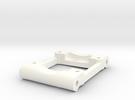 NIX41261 - Losi rear arm mount (0.5deg / 2deg)  in White Strong & Flexible Polished