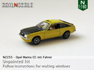 Opel Manta CC mit Fahrer (N 1:160) in Frosted Ultra Detail