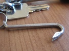 Keychain Mini Crowbar Tool - Small in Stainless Steel