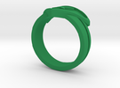 Power Ring Double Banded Sz 8 in Green Strong & Flexible Polished