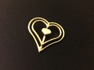 Three Heart Pendant in 14k Gold Plated