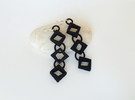 Diamond Drop Earrings in Black Strong & Flexible