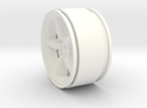 Mach 5 1.9 Beadlock Wheel 12mm hex +3mm offset in White Strong & Flexible Polished