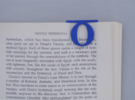 Bookmark Monogram. Initial / Letter  O in Blue Strong & Flexible Polished