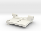HS1177 Back Plate Mount in White Strong & Flexible
