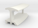Curved Outside Platform - With Shelter in White Strong & Flexible