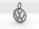 VOLKSWAGEN Logo Pendant in Polished Silver