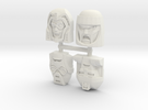 Gobots Renegade Faces Four Pack in White Strong & Flexible