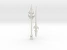 Black Zarak Spear, 12 inch, 5mm grips in White Strong & Flexible